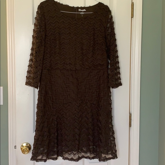 Brown Lace Dress Western Flair